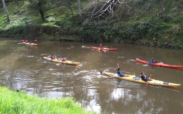 Kayaking in Yarra River